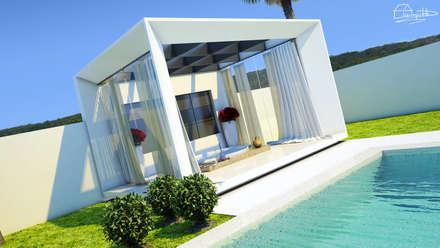 Área de Lazer: Jardins minimalistas por  Arquiteto Elias Mota