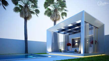 Área de Lazer.: Jardins minimalistas por  Arquiteto Elias Mota