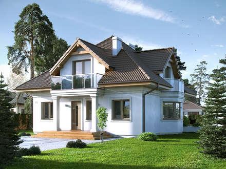 Wizualizacja projektu domu Wilga 2: styl nowoczesne, w kategorii Domy zaprojektowany przez Biuro Projektów MTM Styl - domywstylu.pl