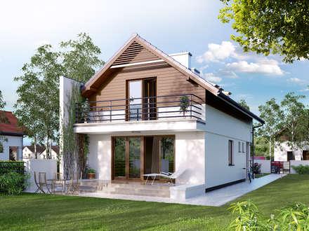 Wizualizacja projektu domu Koliber 4: styl nowoczesne, w kategorii Domy zaprojektowany przez Biuro Projektów MTM Styl - domywstylu.pl