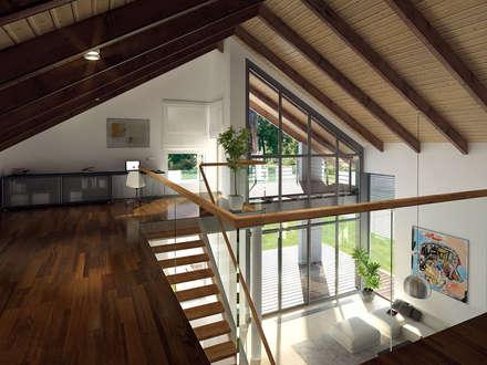 Wnętrze projektu domu Onyks: styl , w kategorii Korytarz, przedpokój i schody zaprojektowany przez Biuro Projektów MTM Styl - domywstylu.pl