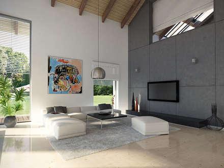 Wnętrze projektu domu Onyks: styl , w kategorii Salon zaprojektowany przez BIURO PROJEKTOWE MTM STYL