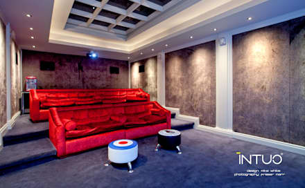 Central London Basement Apartment: minimalistic Media room by Intuo