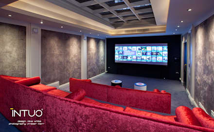Central London Basement Apartment: Minimalistic Media Room By Intuo Part 72