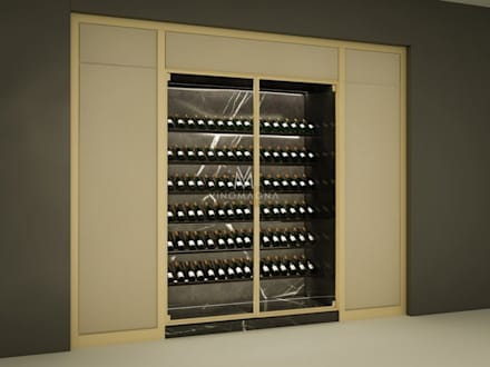 VM 41   Custom Wine And Champagne Display: Modern Wine Cellar By Vinomagna    Bespoke