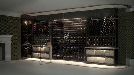 VM32 - The Custom Wine Wall: modern Wine cellar by Vinomagna - Bespoke Wine cellars