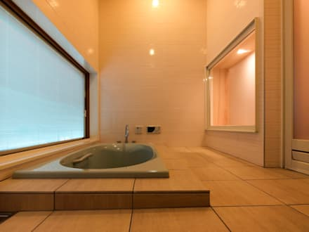 Spa de estilo ecléctico por あーきす建築設計室