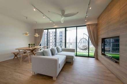 WATERBAY: scandinavian Living room by Eightytwo Pte Ltd