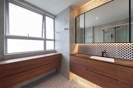 THE TESSARINA: minimalistic Bathroom by Eightytwo Pte Ltd