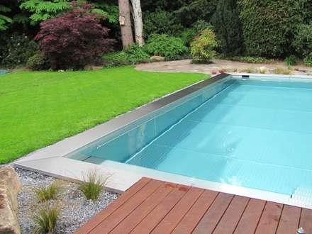 Fertigstellung des Projektes: moderner Pool von Hesselbach GmbH