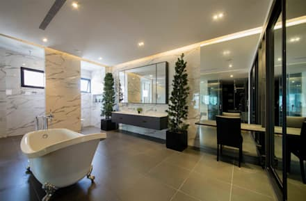 FRANKEL STREET: modern Bathroom by Eightytwo Pte Ltd
