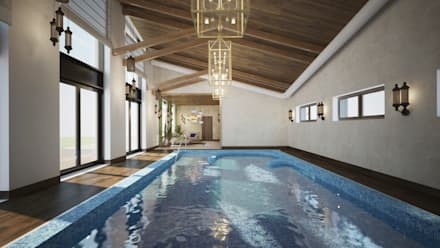 Частный жилой дом Xo-house: Бассейн в . Автор – Skyline Architect