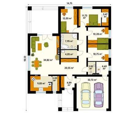 modern Walls & floors by BIURO PROJEKTOWE MTM STYL