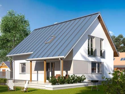 Wizualizacja projektu domu Jeżyna: styl nowoczesne, w kategorii Domy zaprojektowany przez Biuro Projektów MTM Styl - domywstylu.pl