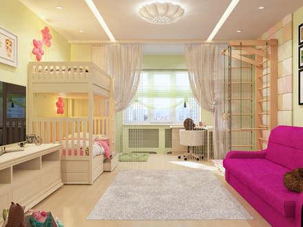 Визуализация Комнаты для Маргариты: Детские комнаты в . Автор – Alyona Musina