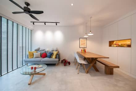 WATERCOLOURS: scandinavian Living room by Eightytwo Pte Ltd