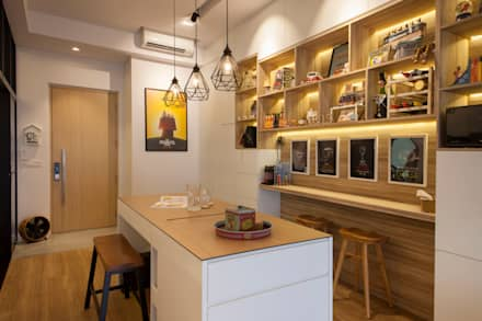 scandinavian Dining room by Eightytwo Pte Ltd