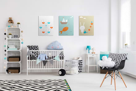 Ferris Wheel: scandinavian Nursery/kid's room by Pixers
