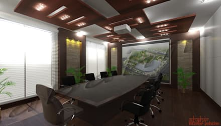 Conference Room:  Conference Centres by Abahir Interiors