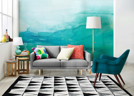 Ombre: scandinavian Living room by Pixers