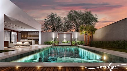 modern Pool by Only Design de Interiores
