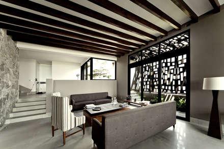 Casa Horizonte - VMArquitectura: Salas de estilo moderno por VMArquitectura