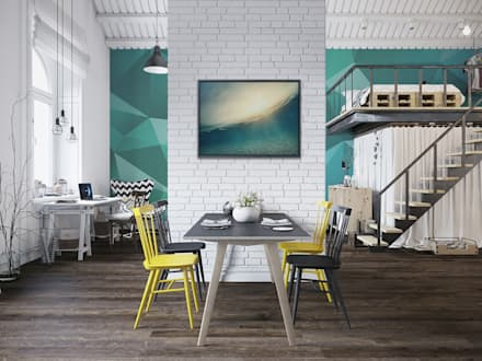 The Big Blue: modern Dining room by Pixers