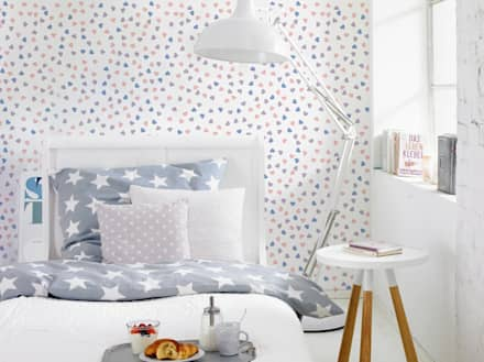 Pastel hearts: eclectic Bedroom by Pixers