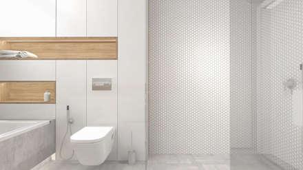 Dom w Sieradzu - projekt łazienki: styl , w kategorii Łazienka zaprojektowany przez Interjo