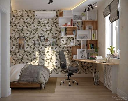 scandinavian Bedroom by Студия интерьерного дизайна happy.design