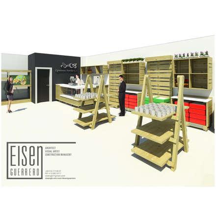 VISTA 3D LC -IGV-01: Oficinas y Tiendas de estilo  por Eisen Arquitecto