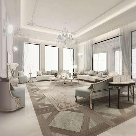 Italian Glam Living Room Design: mediterranean Living room by IONS DESIGN