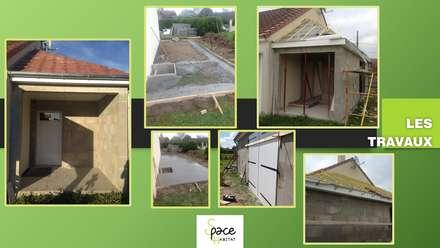 LES TRAVAUX: Garage / Hangar de style de style Classique par S'PACE HABITAT / S'PACE HOME DESIGN