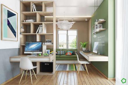Zelena apartment: Рабочие кабинеты в . Автор – Polygon arch&des