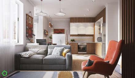 Apartment Myalik: Гостиная в . Автор – Polygon arch&des