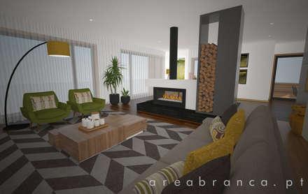 Sala e Cozinha : Salas de estar modernas por Areabranca