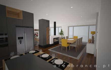Sala e Cozinha : Cozinhas modernas por Areabranca