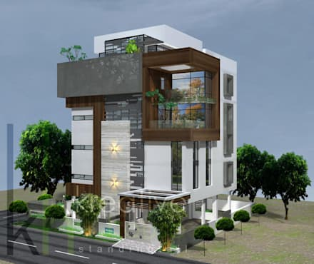 A multifamily home with highend luxury and breathtaking style!!: modern Houses by KREATIVE HOUSE
