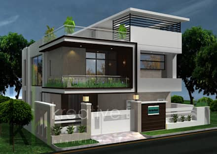 Modern style house design ideas pictures homify for Small house interior and exterior design