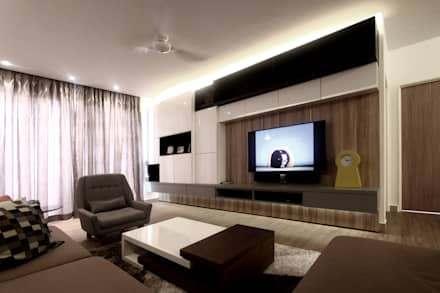The Sanderson Home: modern Living room by inDfinity Design (M) SDN BHD