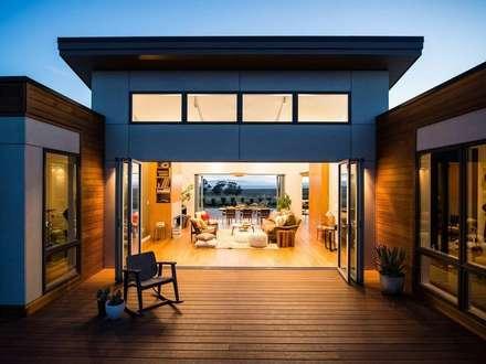 Casa prefabricadas, modular y portatil: Casas de estilo moderno de Construcciones F. Rivaz