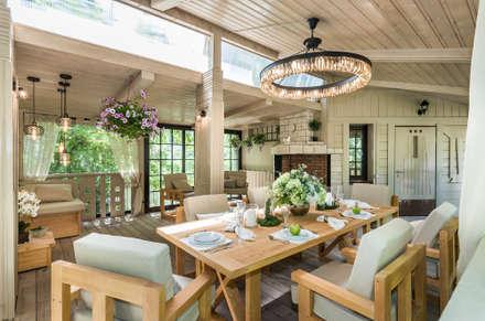 Летняя Веранда • Summer Terrace : Tерраса в . Автор – Tony House Interior Design & Decoration