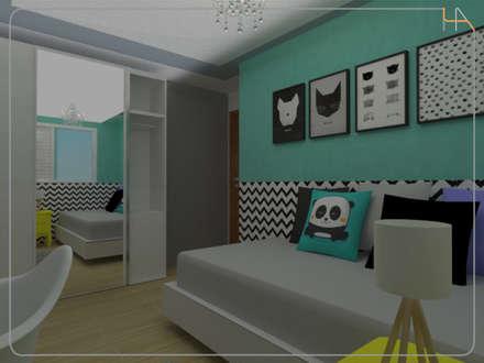 Quarto da Filha - Apartamento C|L: Quartos  por Humanize Arquitetura