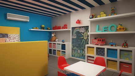 modern Nursery/kid's room by Roccó