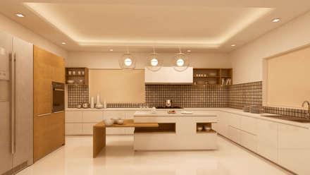 KITCHEN: modern Kitchen by Depanache Interior Architects