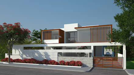 EXTERIOR VIEW: Modern Houses By De Panache   Interior Architects