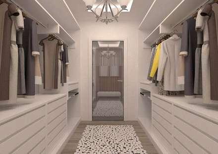 ESA PARK İÇ MİMARLIK – İLKO SİTESİ- ÖRNEK VİLLA  : modern tarz Giyinme Odası