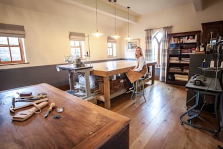 In the studio : industrial Study/office by Emily Craven Interiors