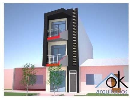 Proyecto de vivienda alquiler: Casas de estilo moderno por Okarq