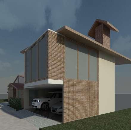 Fachada Lateral: Anexos de estilo moderno por Diseño Store